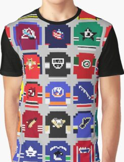8-Bit Hockey Jerseys Graphic T-Shirt