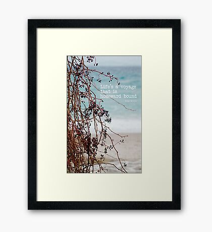 the voyage Framed Print