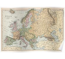 Vintage Map of Europe (1892) Poster