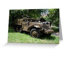 M21 Mortar Motor Carriage Greeting Card