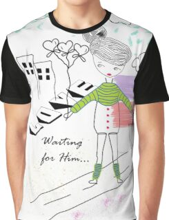 Her Doodle Love Graphic T-Shirt