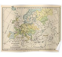 Vintage Map of Europe (1905) Poster