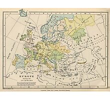 Vintage Map of Europe (1905) Photographic Print