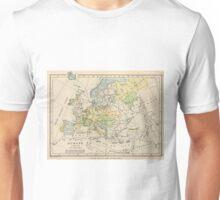 Vintage Map of Europe (1905) Unisex T-Shirt