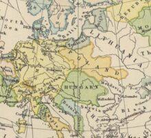 Vintage Map of Europe (1905) Sticker