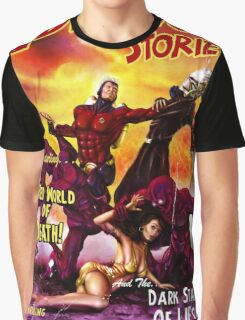 Pulp Adventure Stories: The Red World of Death! Graphic T-Shirt