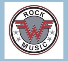 weezer logo rock music Kids Tee
