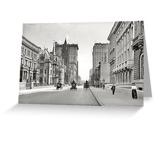 Vintage Fifth Avenue NYC Photograph (1908) Greeting Card