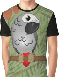 African Grey Graphic T-Shirt