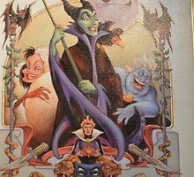 Halloween Characters Villains Evil Queen Ursula Maleficent Cruella  by notheothereye