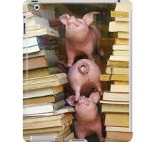 Three Bookish Piglets iPad Case/Skin