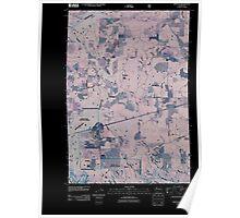 USGS Topo Map Washington State WA Appleton 20110509 TM Inverted Poster