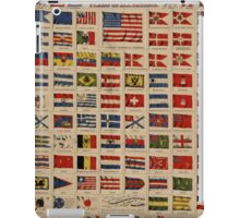 Historical Flags of The World (1869) iPad Case/Skin