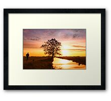 Jogging in the morning Framed Print
