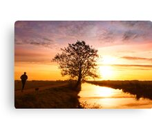Jogging in the morning Canvas Print