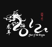 Year of the Dragon 2012 White Calligraphy by avdesigns