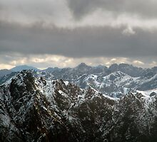 Western Arthur Ranges from the air by clickedbynic