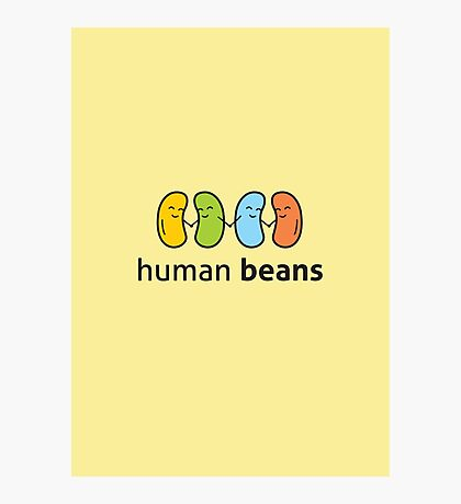 Human Beans logo only Photographic Print