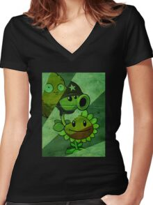 Prepare for the zombie apocalypse Women's Fitted V-Neck T-Shirt
