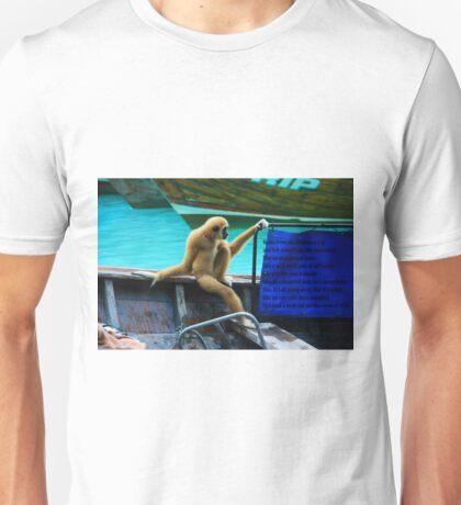 monkey in a boat Unisex T-Shirt