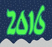 New year 2016 illustration by Ederella