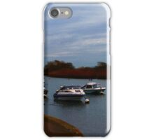 Boats on the river 2 iPhone Case/Skin