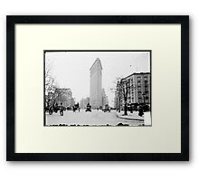 Vintage Photograph of The NYC Flat Iron Building Framed Print