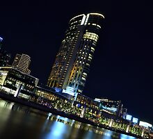 Melbourne at Night 0332 by Kayla Halleur