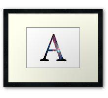 Galaxy Alpha Greek Letter Framed Print