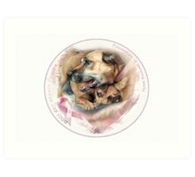 Breast Cancer Awareness-( In Dogs ) Art Print