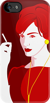 Joan Holloway iphone Case by Lynn Lamour