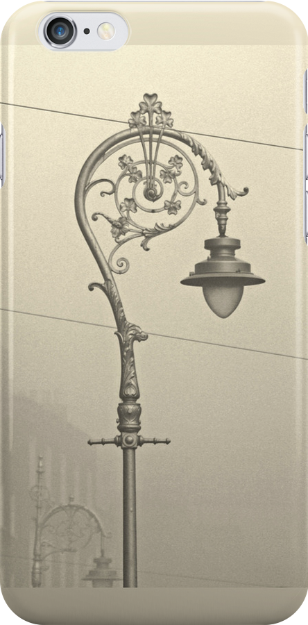 Dublin street lamp iPhone case by Esther  Moliné