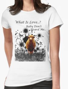 "Hilarious Sheep Parody of ""What is Love"" Womens Fitted T-Shirt"