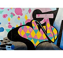 Abstract and Colorful Graffiti on the textured wall Photographic Print