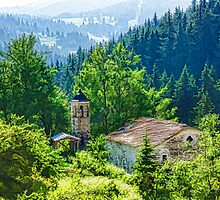 The Village Church - Impressions of Mountains and Forests by Georgia Mizuleva