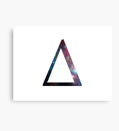 Delta Greek Letter Canvas Print