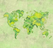 World Green Blue Vintage by HubertRoguski