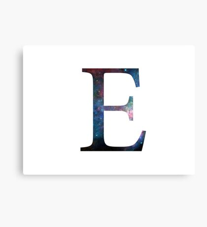 Epsilon Greek Letter Canvas Print