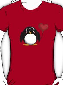 Adorable Penguin Heart Balloon T-Shirt