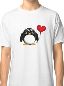 Adorable Penguin Heart Balloon Classic T-Shirt