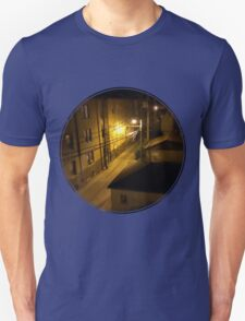 Chicago alley at night Unisex T-Shirt