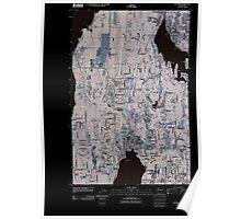 USGS Topo Map Washington State WA Poulsbo 20110422 TM Inverted Poster