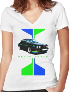 1984 BMW E28 Alpina B9 3.5 Women's Fitted V-Neck T-Shirt