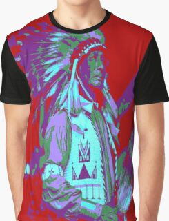 Indian Chief Pop Art Graphic T-Shirt