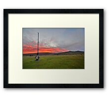 Dartmoor: Christmas Eve Sunrise at Watchet Hill Framed Print
