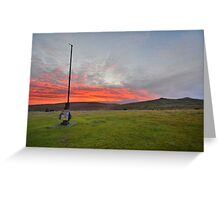 Dartmoor: Christmas Eve Sunrise at Watchet Hill Greeting Card