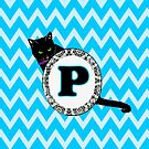 P Cat Chevron Monogram by gretzky