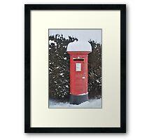 Christmas post box Framed Print