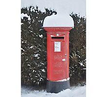 Christmas post box Photographic Print
