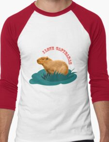 I love capybaras Men's Baseball ¾ T-Shirt